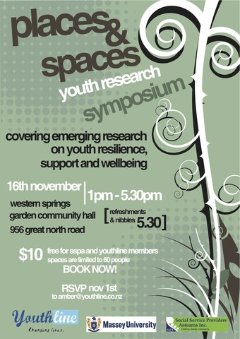 Places and spaces. Youthline 1st Research symposium