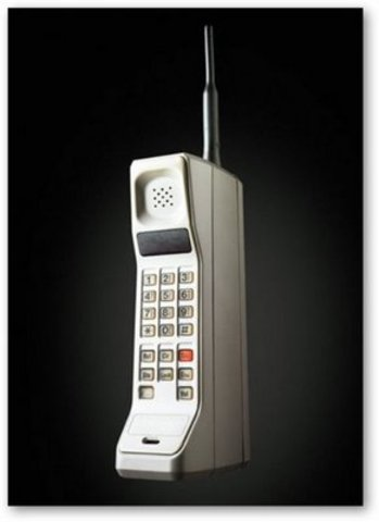 The first commercial cell phone is used for the first time.