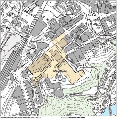 Schéma d'occupation publique au niveau des sous-sols.