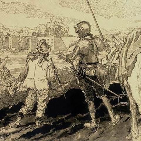 Don Quijote se enfrenta a Juan Haldudo
