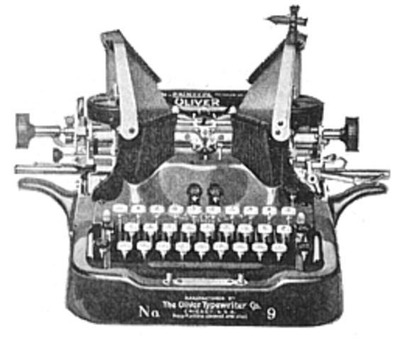 Primera maquina de escirbir con exito comercial inventada por Christopher Sholes, 3 Carlos Glidden y Samuel W. Soule.