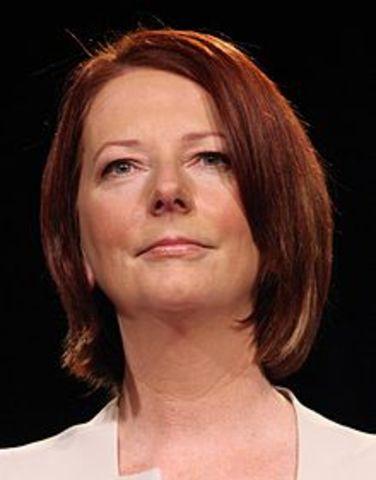 Julia Gillard becomes the 27th PM