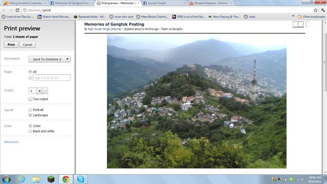Shifted to Gangtok, India