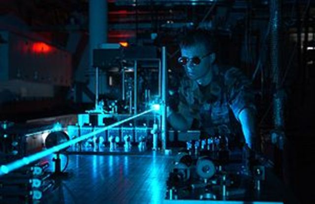 Operation of the first functioning laser