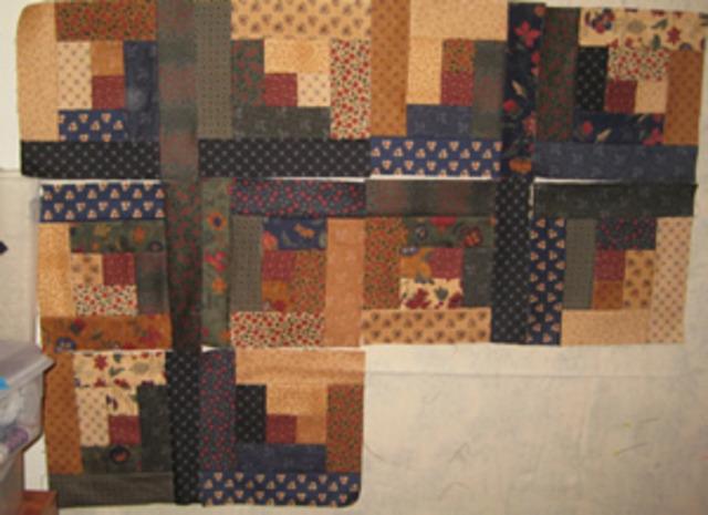 Flannel Days quilt started