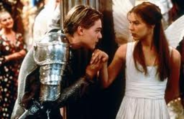 Romeo and Juliet meet at the party and fall in love.