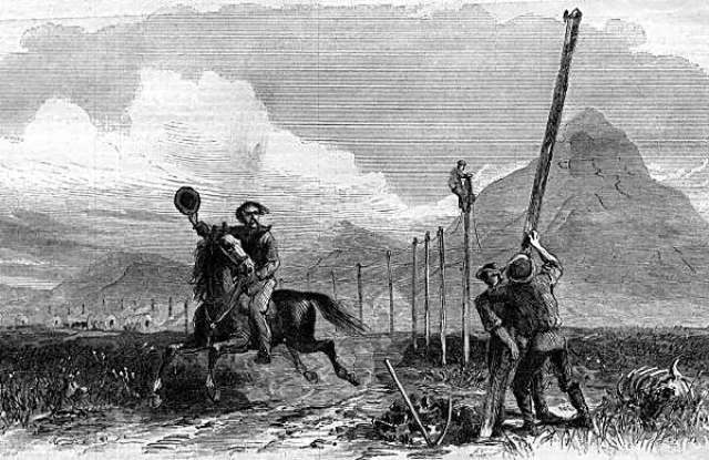 - Western Union completes the first transcontinental telegraph line -- providing fast,             coast-to-coast communications during the U.S. Civil War.