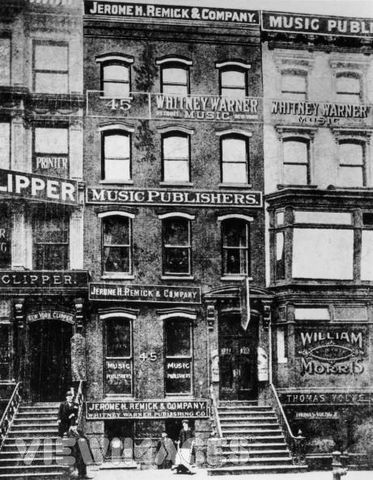 """Tin Pin Alley"" Music Publishers began renting offices on 28th street in NYC."