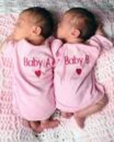 When my to sister were born.