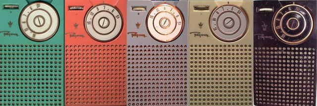 """The First """"transistor radio"""" went on sale in the U.S. named The Regency TR-1"""