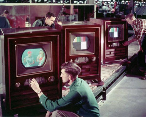rca first colored tv is created