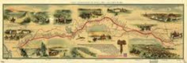 western unions first transcontential telegraph line