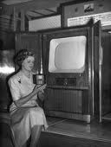 CBS television broadcast the first color TV program to five cities