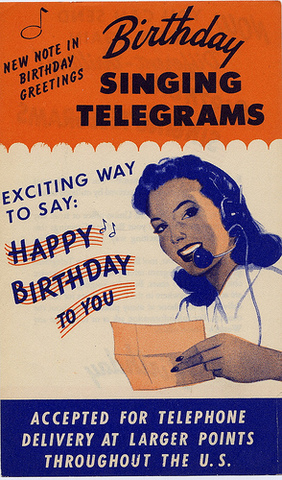 "The first ""singing telegram"" service."