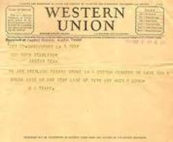 Western Union stopped delivering telegrams as of this date