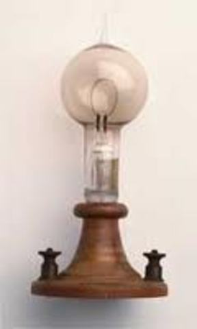 Edison issued a patent for the electric incandescent light bulb