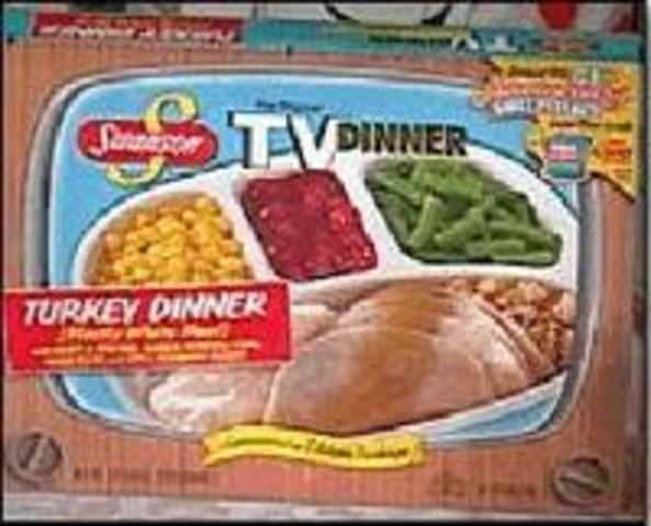 "Swanson employee Gerry Thomas invents the frozen ""T. V. Dinner"""