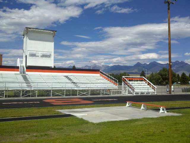 Completed Bleachers for Local H.S.