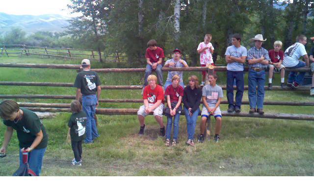 Celebrating 3000 feet of fence