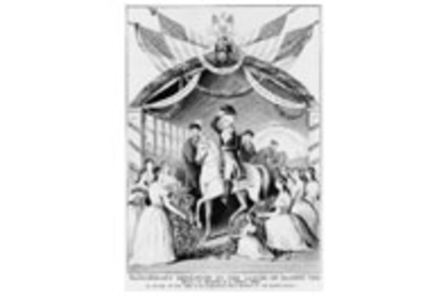 Election of George washington As the first president of the united states