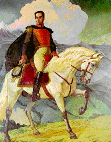 Bolívar marcha hacia Venezuela