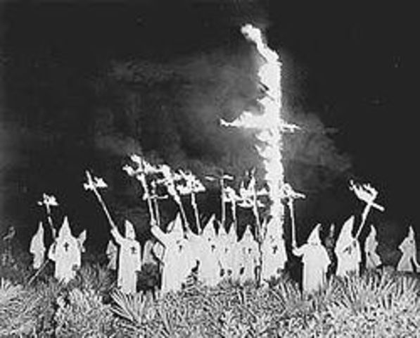 The formation of the Ku Klux Klan