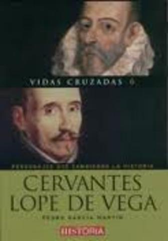 2 grandeas autores (Cervantes y Lpe de Vega)