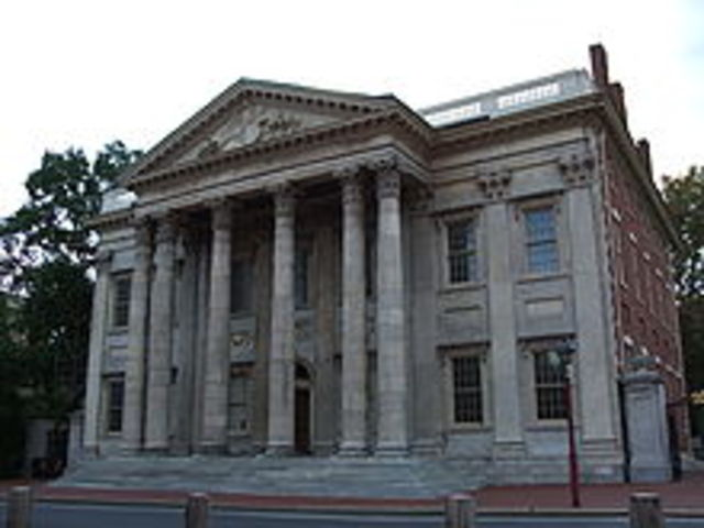By the year of 1805 The First bank of America had a total of 8 branches