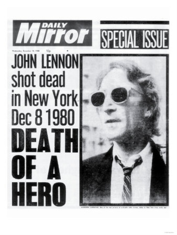John Lennon Killed