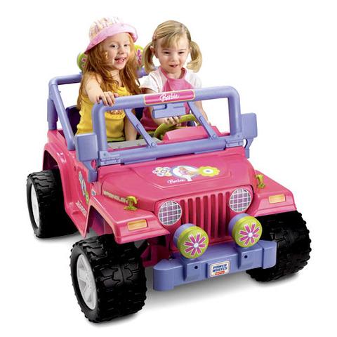 Motorized Barbie Jeep