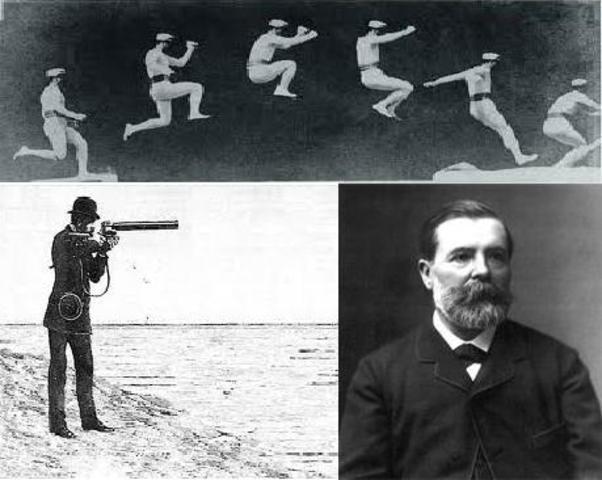 Etienne-Jules Marey - The chronophotographic gun.