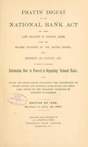 The national banking act of 1864