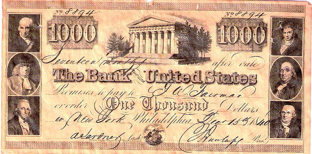 The Second Bank of America was Established