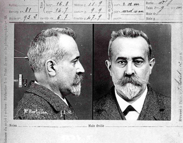 Alphonse Bertillon developed a system to identify people using particular body measurements