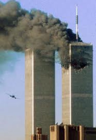 The terrorist attack on the World Trade Center