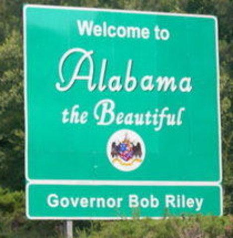 Moved to Alabama