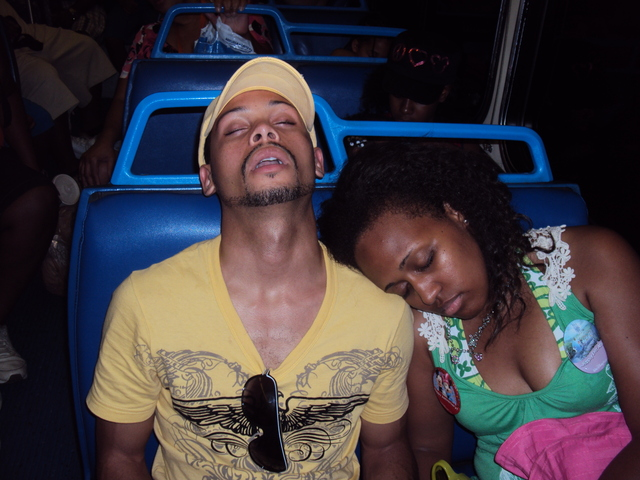 On the bus after a long long day