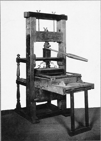 The Printing Press by Johannes Gutenberg