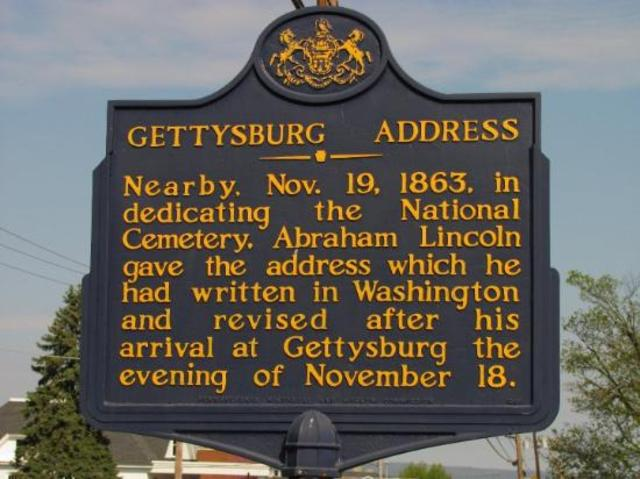 comparing the gettysburg address and ginsbergs america It's time for america to build a moonbase on may 25, 1961, congress met in a joint session to hear the american president, john f kennedy, address them in.
