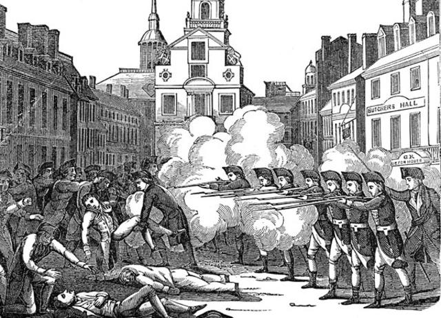 Date of boston massacre in Brisbane