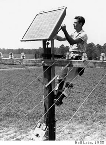 Bell Labs publishes information about the use of solar cells for energy