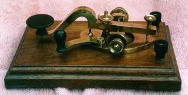 Samuel Morse invented the electric telegraph, a machine that could send messages long distances across wire.