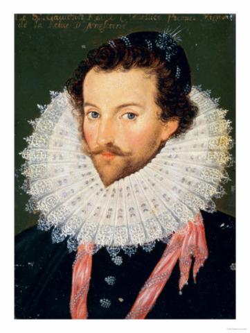 Virginia colony of Roanoke Island established by Walter Raleigh