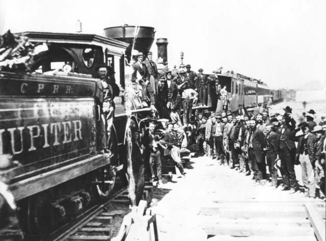 The Transcontinental Railroad connected