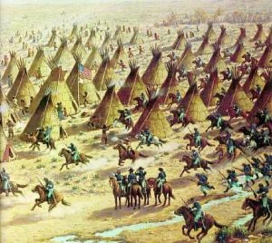 Massacre of Cheyennes at Sand Creek, Colorado