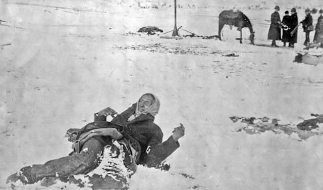 Massacre of Teton Sioux at Wounded Knee