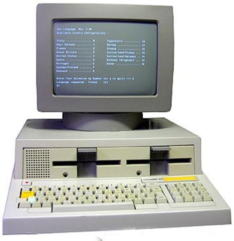 Diseño del primer PC de IBM.