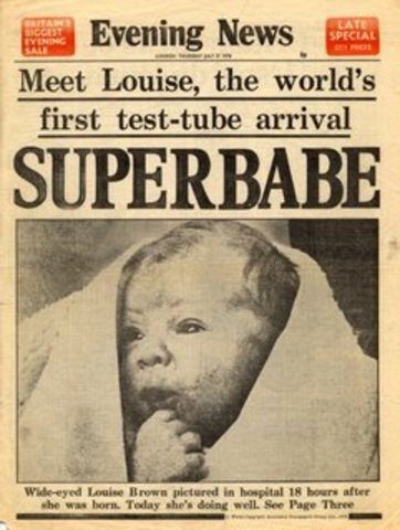 First Test Tube Baby is Born, Louis Brown