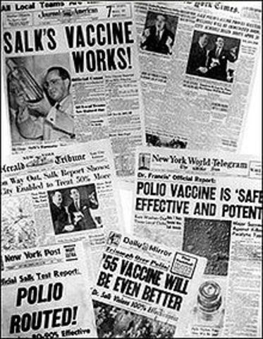 Jonas Salk Discovered an Altered Polio Virus Vaccine.