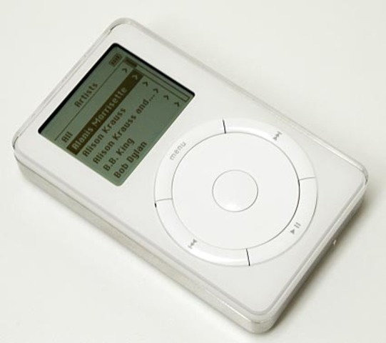 First iPod created and launched